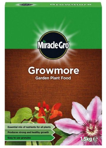 MIRACLE GRO GROWMORE GARDEN PLANT FOOD 1.5kg